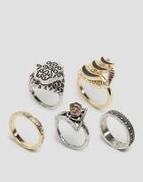 Asos Hamsa Stone Ring Pack
