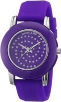 Morellato Women's R0151100514 Colours Purple silicone band watch.
