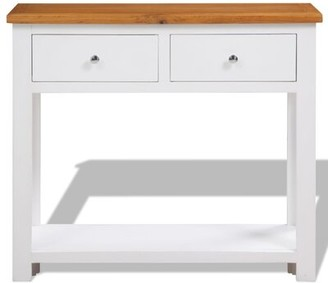 """Highland Dunes Tapscott 11.8"""" Solid Wood Console Table"""