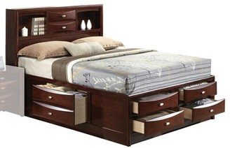 Red Barrel Studio Malaika Storage Platform Bed Color: Espresso, Size: Full