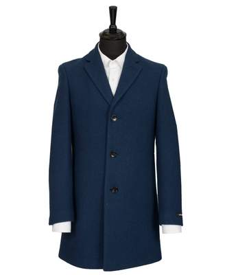 Remus Uomo Overcoat Colour: BLUE, Size: 38