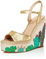 Kate Spade Dallas Embroidered Platform Wedge Sandals