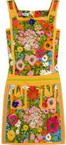 Moschino Floral-print cotton-blend mini dress
