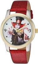Disney Women's 'The Mad Hatter' Quartz Metal Automatic Watch, Color: (Model: W003064)