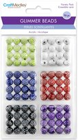 Multicraft Imports Glimmer Acrylic Disco Ball Bead Variety Pack 96 Pack