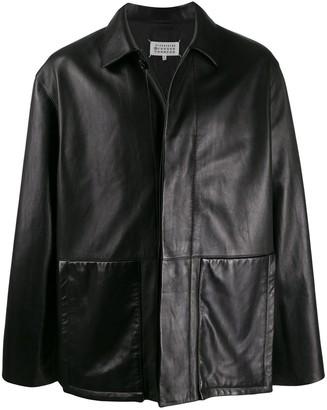 Maison Margiela Oversized Leather Jacket