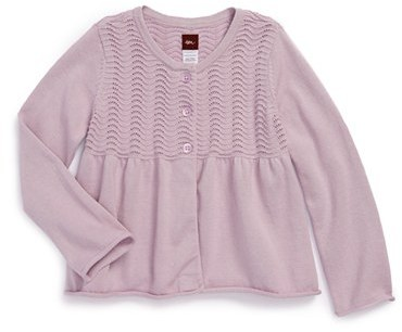 Tea Collection Pointelle Cardigan (Little Girls & Big Girls)