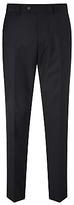 John Lewis Regular Fit Sharkskin Suit Trousers, Navy