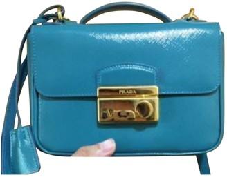 Prada Turquoise Patent leather Handbags