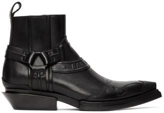 Balenciaga Black Harness Santiag Boots