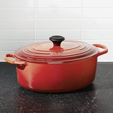 Crate & Barrel Le Creuset ® Cerise Red 6.75-Qt. Oval French Oven