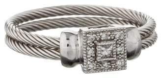 Charriol 18K Diamond Cable Ring