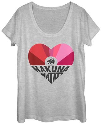 Fifth Sun Women's Tee Shirts ATH - The Lion King Athletic Heather 'Hakuna Matata' Scoop Neck Tee - Women & Juniors