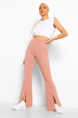 boohoo Tailored Split Hem Flare Trouser