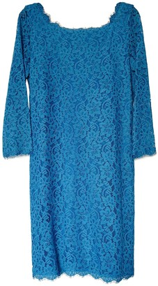 Diane von Furstenberg Turquoise Lace Dress for Women