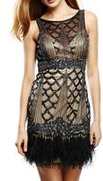 Sue Wong Gatsby Feather Dress