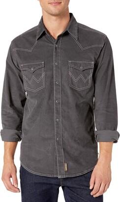 Wrangler Men's Big & Tall Corduroy Retro Two Pocket Long Sleeve Snap Shirt