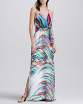 Milly Printed Halter Maxi Dress