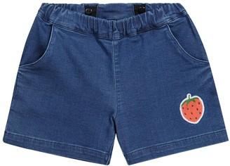 Mini Rodini Embroidered denim shorts