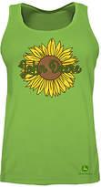 John Deere Apple Green Sunflower Tank