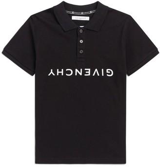 Givenchy Kids Upside Down Logo Polo Shirt