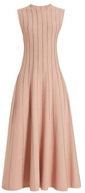 Roksanda Tovi Metallic-striped Dress - Womens - Pink Gold
