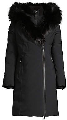 Mackage Women's Trish Silver Fox Fur-Trim & Rabbit Fur-Line Down Coat