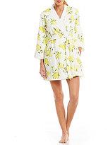 Kate Spade Lemon Jersey Wrap Robe