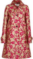 Valentino Jacquard Coat - Red