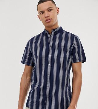 Burton Menswear Big & Tall oxford shirt in navy stripe