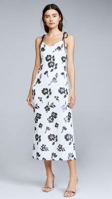Self-Portrait Self Portrait Sleeveless Floral Sequin Midi Dress