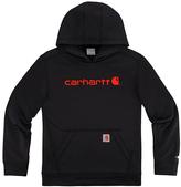 Carhartt Caviar Black 'Carhartt' Force® Fleece Pullover Hoodie - Boys