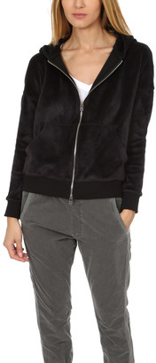 Anthony Logistics For Men Atm By Thomas Melillo ATM Velour Zip Up Hoodie