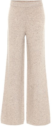 Joseph High-rise tweed knit pants