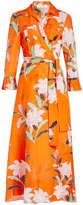 Diane von Furstenberg Printed Shirt Dress in Cotton and Silk
