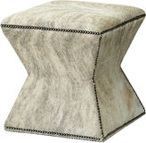 Massoud Furniture Althea Ottoman, Gray Brindle