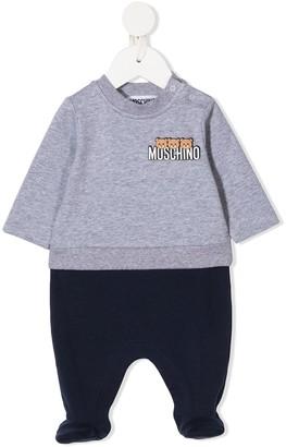 MOSCHINO BAMBINO Logo-Print Two-Tone Pajama