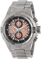 Invicta Men's 12369 Pro Diver Chronograph Rose Textured Dial Stainless Steel Watch