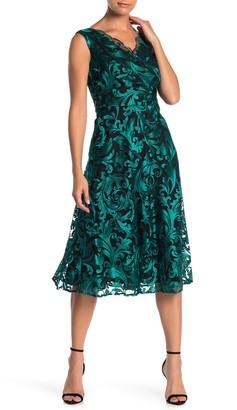 Taylor Scalloped Lace Surplice Neck Dress (Regular & Plus Size)