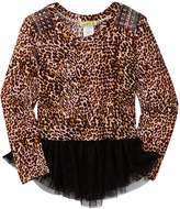 Little Mass London Leopard Studded Tunic (Toddler & Little Girls)