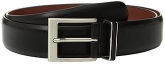 Perry Ellis Portfolio Smooth Nappa Leather Belt (Black) Men's Belts