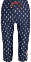 The Upside Power Printed Stretch-jersey Leggings - Navy