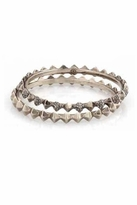 House Of Harlow Spike Stack Bangle Set in Silver