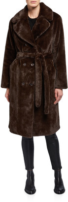 Stand Faustine Double-Breasted Faux Fur Coat