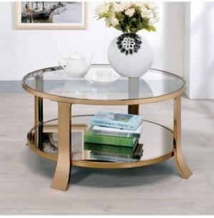 Furniture of America Kela Glass Top Coffee Table