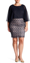 Sangria Shawl Detail Lace Detail Dress (Plus Size)