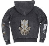 Butter Shoes Girls' Sparkle Harmony Embellished Hoodie - Big Kid