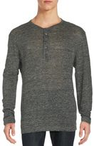 Theory Long Sleeve Henley T-Shirt