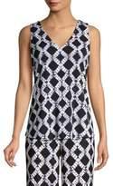 Donna Karan Sleeveless Deep V-Neck Top
