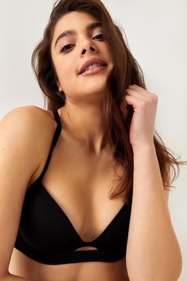 Ardene Ribbed Push-Up Bikini Top